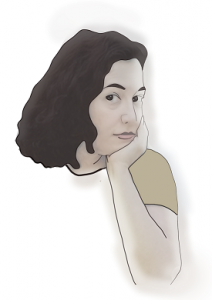 Logue.ca illustrates images of immigrants who share their stories. This is an illustration of Logue founder Bita Jamalpour.